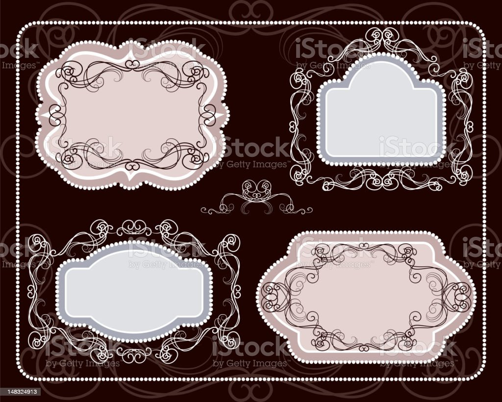Elegant Frames royalty-free stock vector art