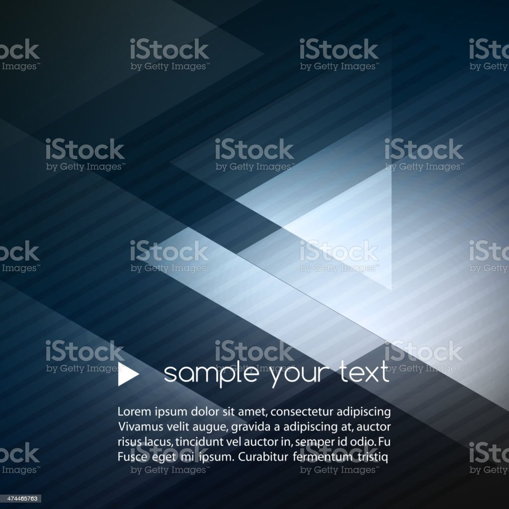 Elegant Geometric Blue Background vector art illustration
