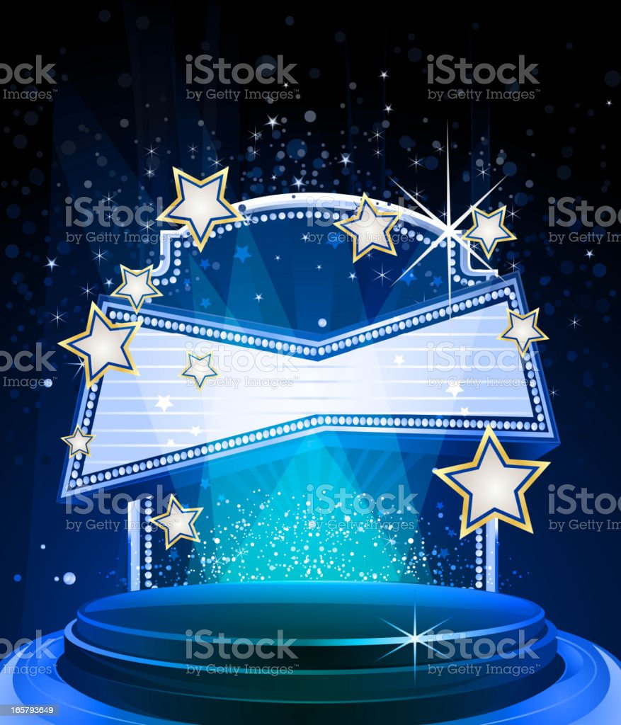Elegant Glossy Stage with Marquee royalty-free stock vector art
