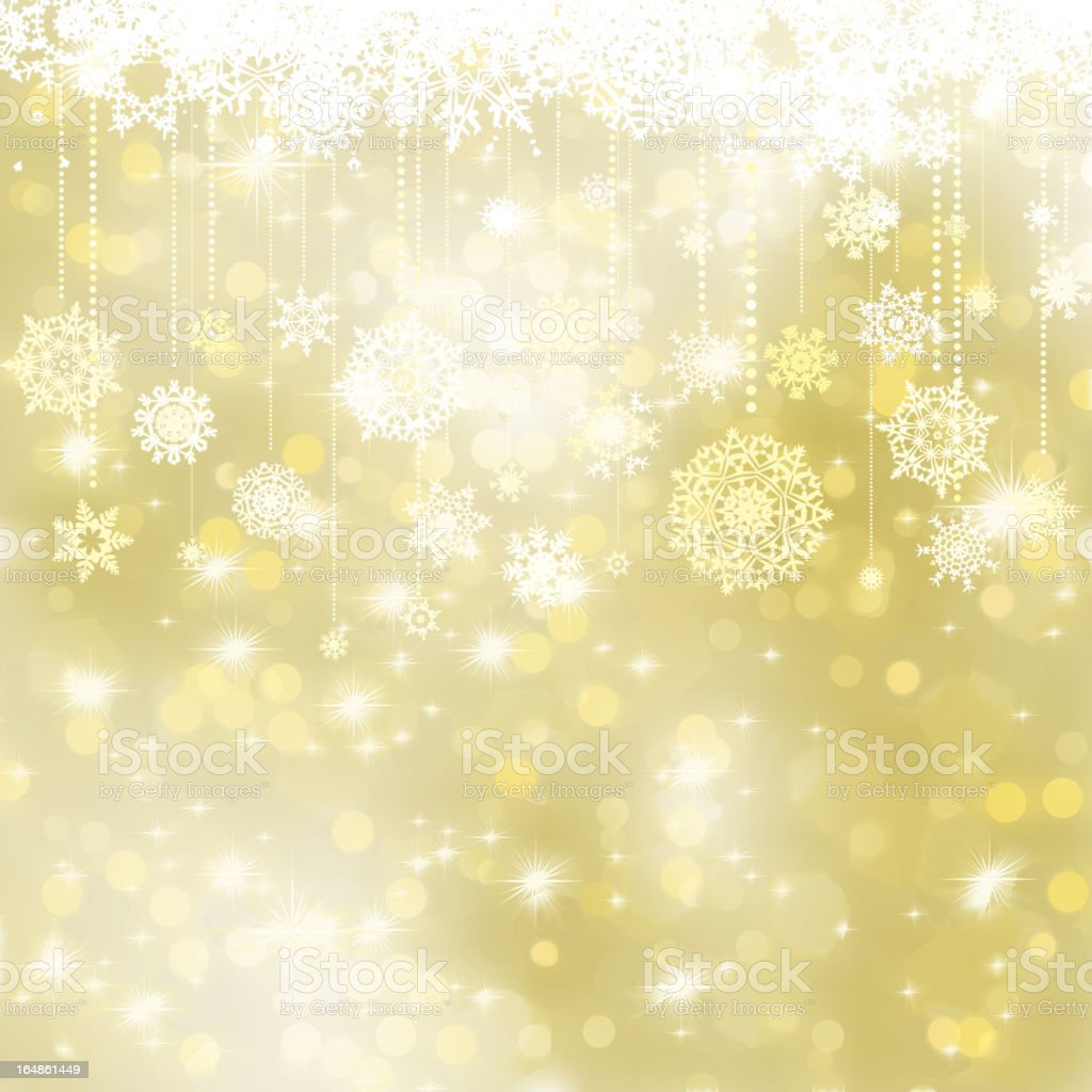 Elegant gold christmas background. EPS 8 royalty-free stock vector art