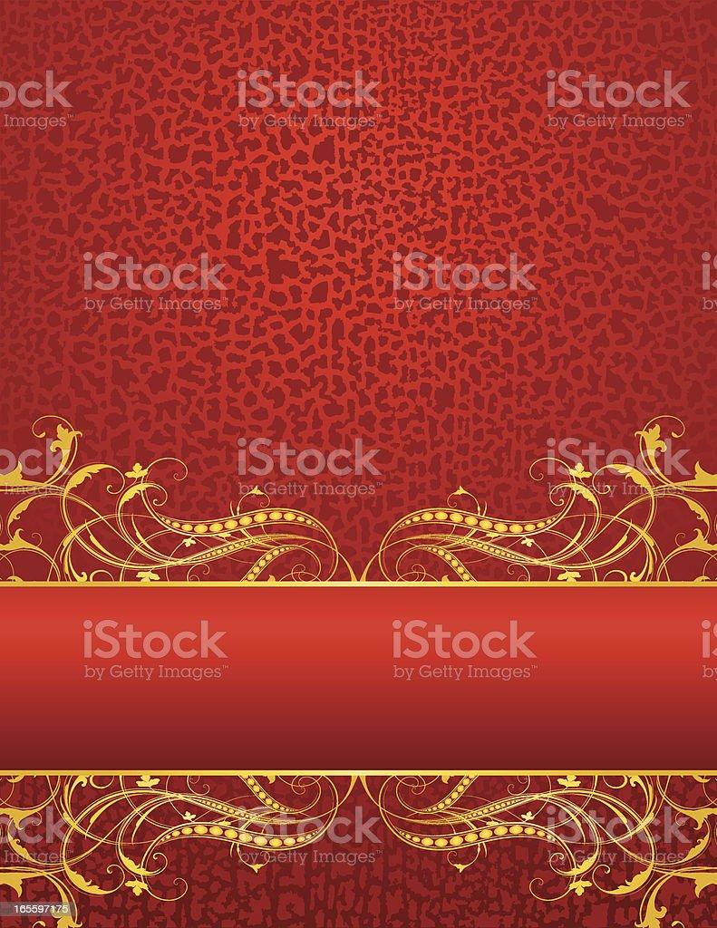Elegant Gold Grunge Banner royalty-free stock vector art