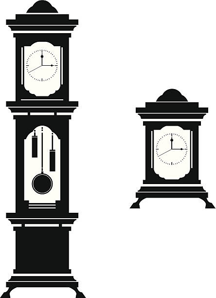 Grandfather Clock Clip Art, Vector Images & Illustrations ...