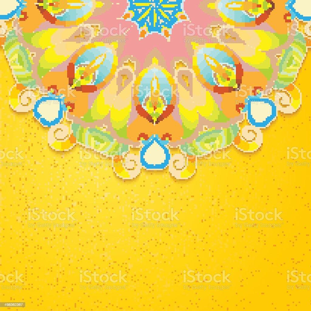 Elegant Indian ornamentation background. vector art illustration