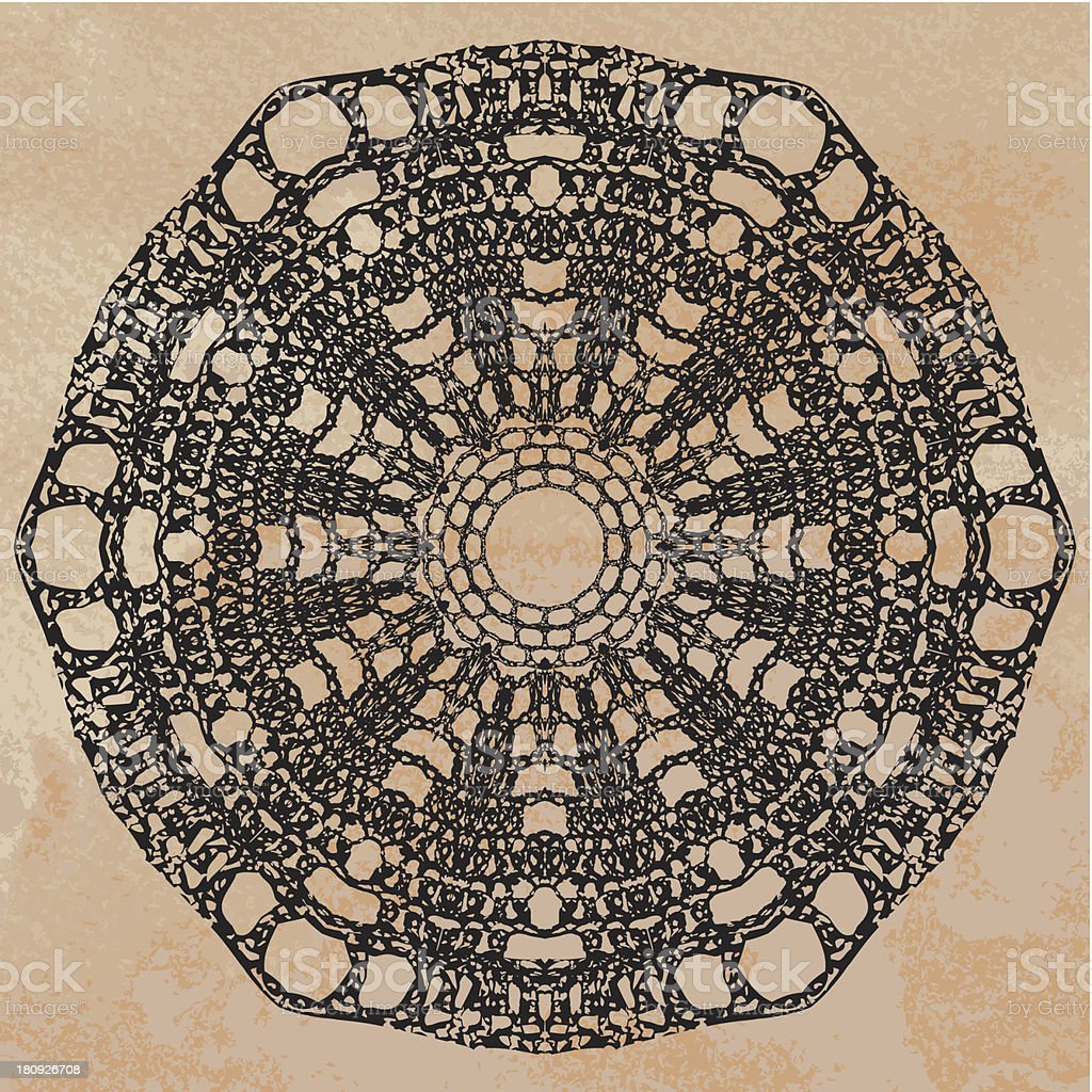 Elegant lacy doily royalty-free stock vector art