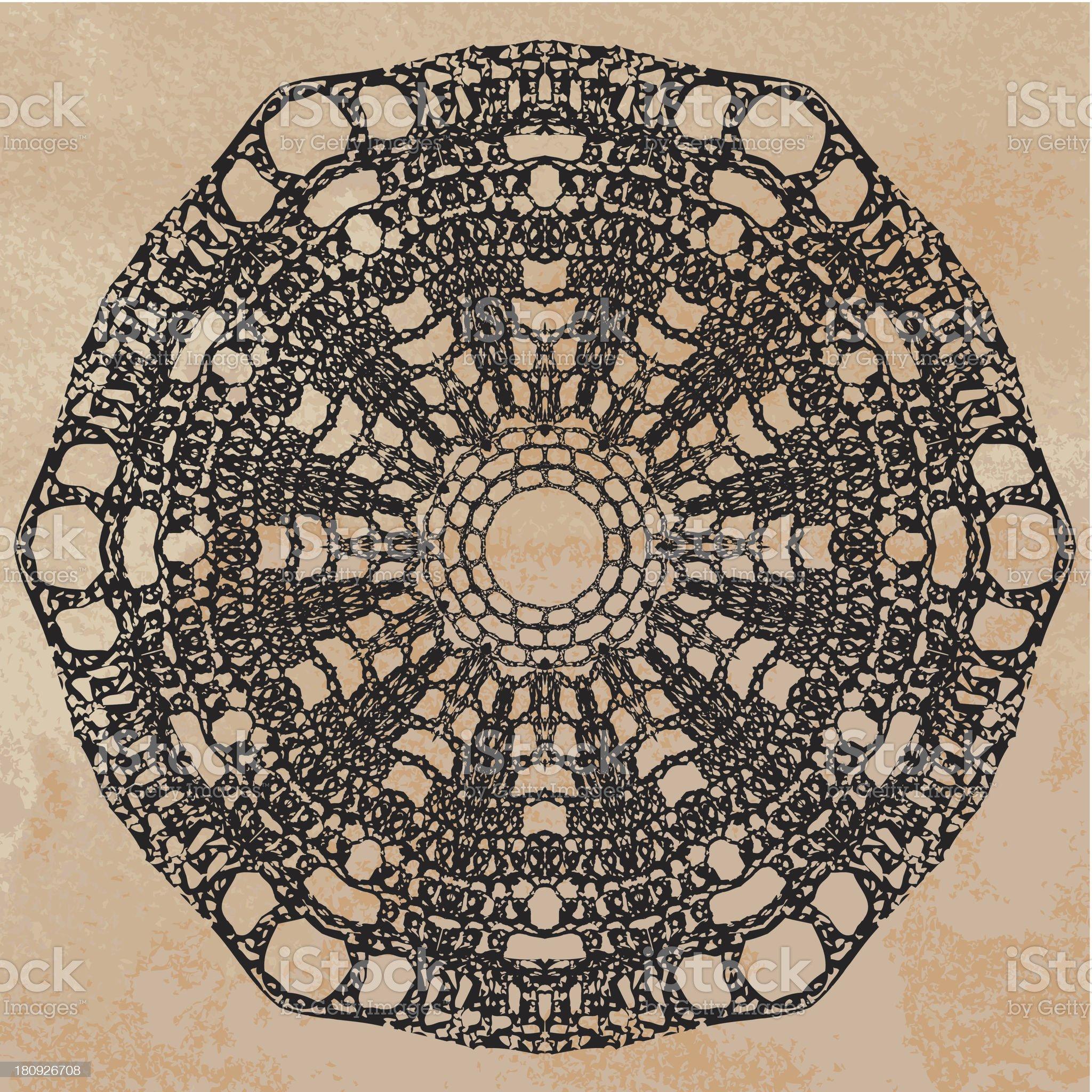 Elegant lacy doily royalty-free stock vector art