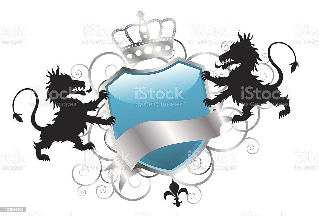 Elegant Lion Insignia royalty-free stock vector art