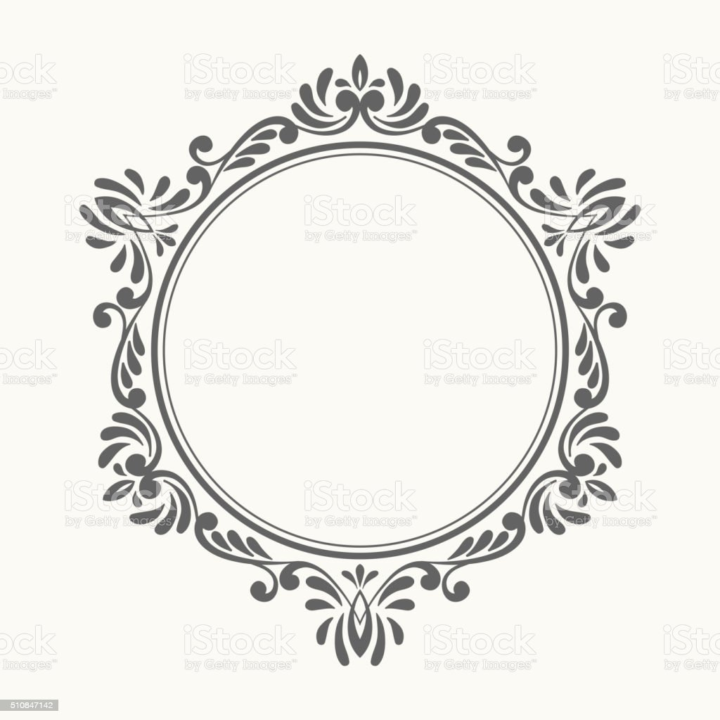 Elegant luxury retro floral frame. vector art illustration