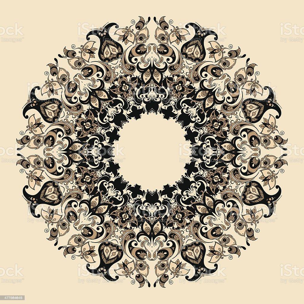 Elegant mandala royalty-free stock vector art