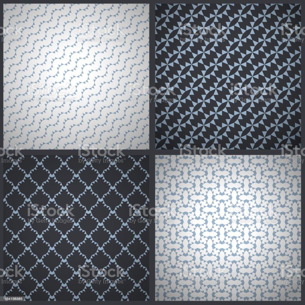 Elegant masculine seamless patterns. Vector backgrounds. vector art illustration