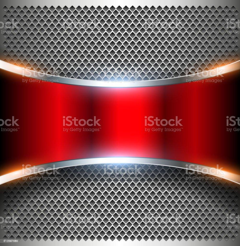 Elegant metallic background vector art illustration