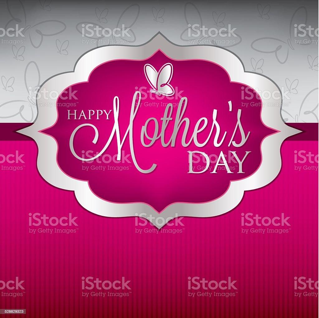 Elegant Mother's Day card in vector format. vector art illustration