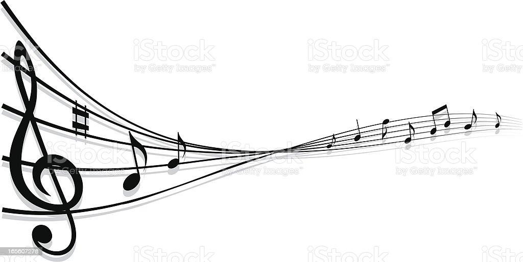 Elegant musical design element/background royalty-free stock vector art