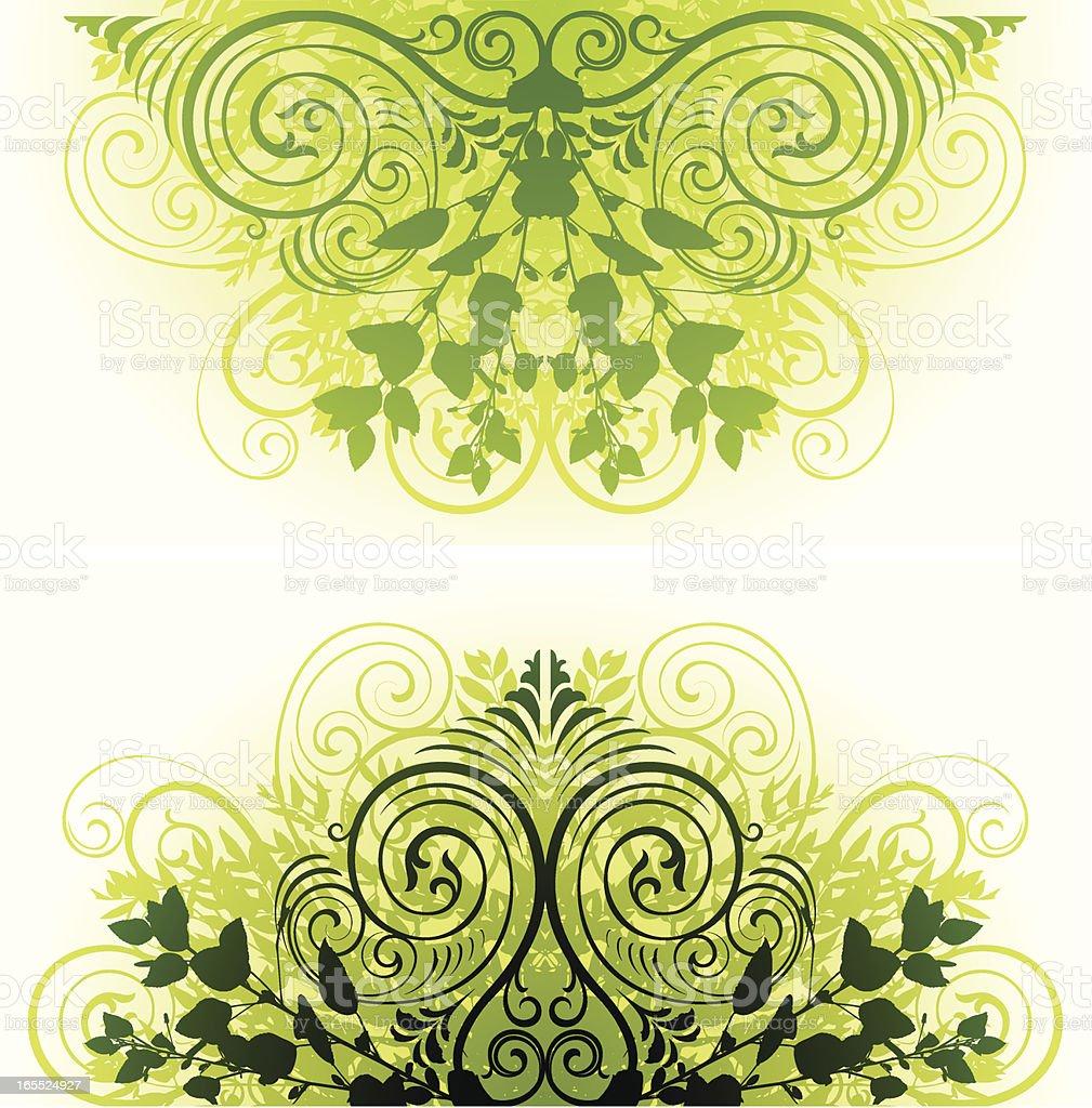 Elegant ornamental headers vector art illustration