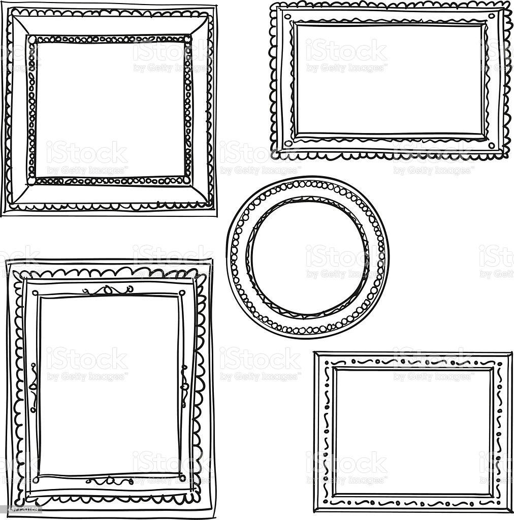 Elegant Ornate frames in black and white royalty-free stock vector art
