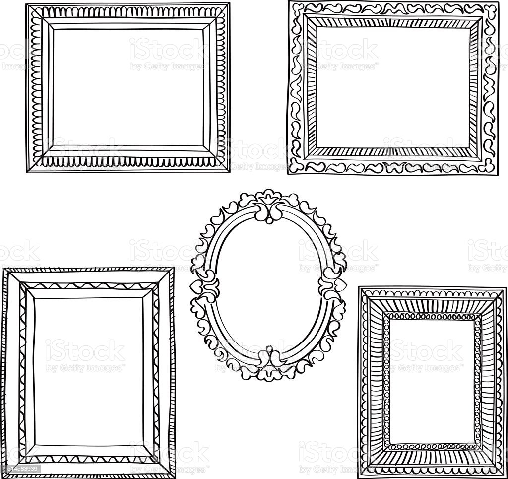 Elegant Ornate frames vector art illustration