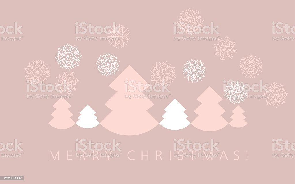 elegant pale color christmas background. xmas faminin style header template. vector art illustration