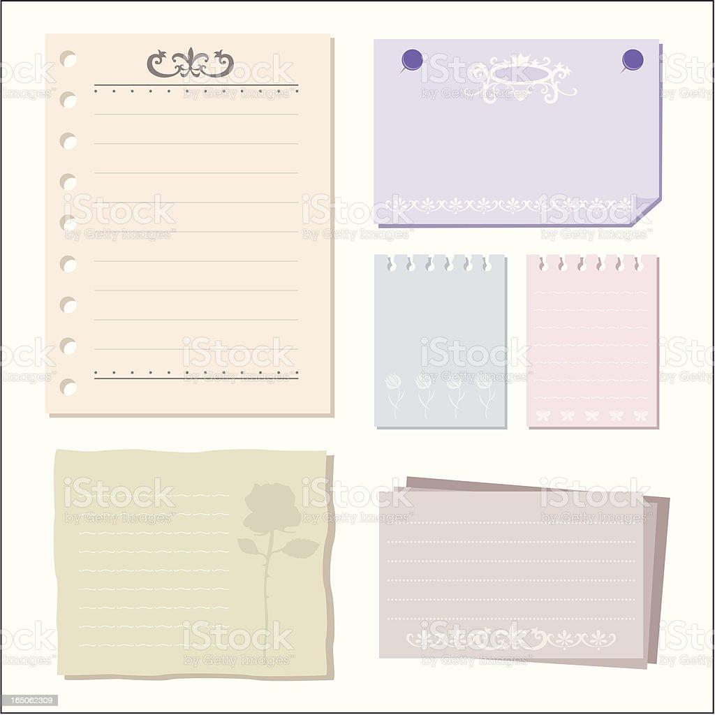 elegant paper royalty-free stock vector art
