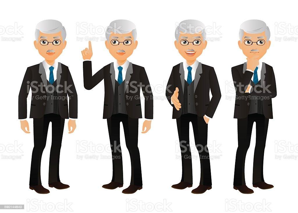 Elegant People-Businessman vector art illustration