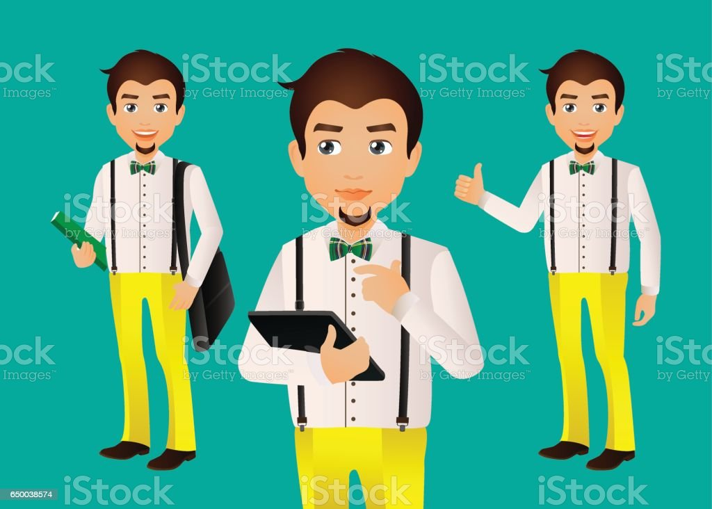 Elegant People-Businessman vector art illustration