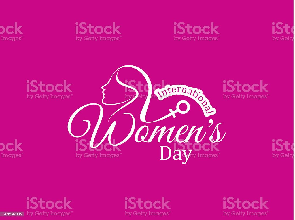Elegant pink color card design for women's day royalty-free stock vector art