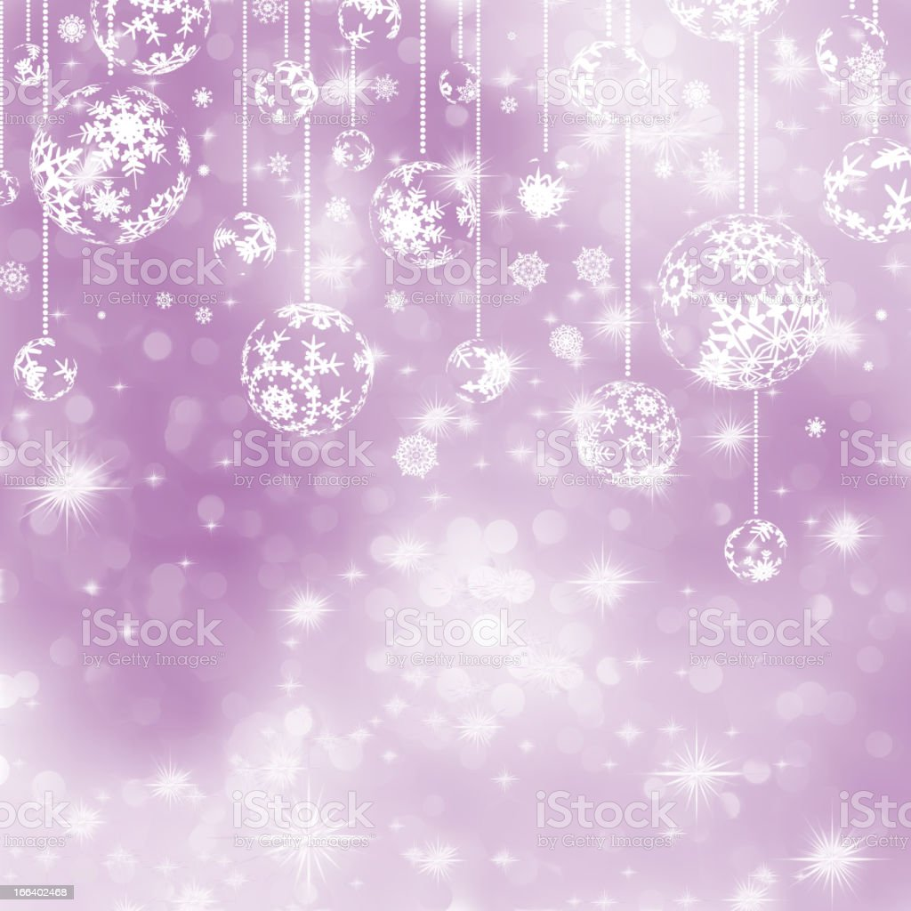 Elegant purple christmas background. EPS 8 royalty-free stock vector art
