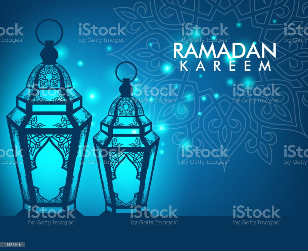 Elegant Ramadan Kareem Lantern or Fanous vector art illustration