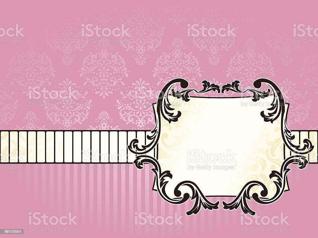 Elegant rectangular French vintage label, horizontal royalty-free stock vector art