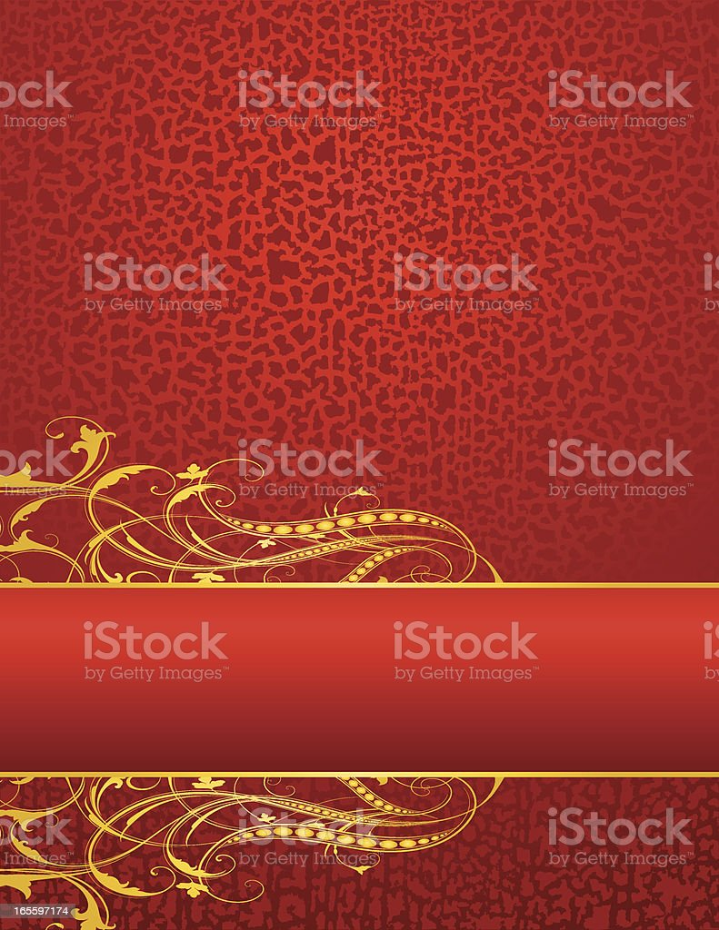 Elegant Red and Gold royalty-free stock vector art