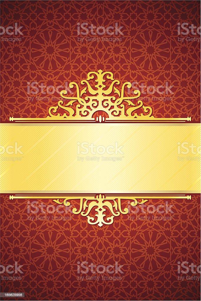 Elegant Red Banner royalty-free stock vector art