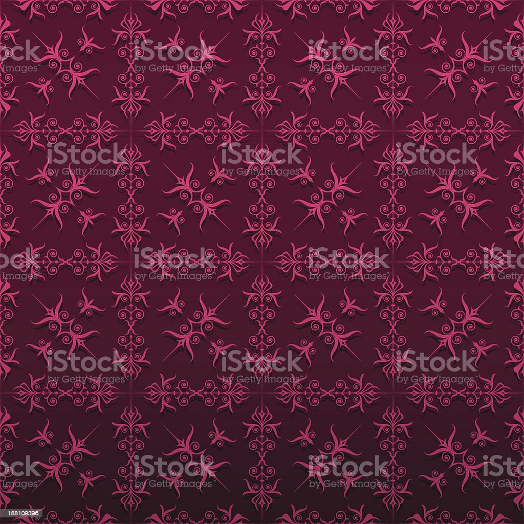 Elegant red floral background royalty-free stock vector art