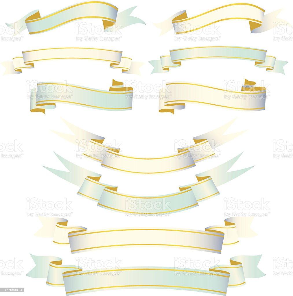 Elegant Ribbon Set royalty-free stock vector art