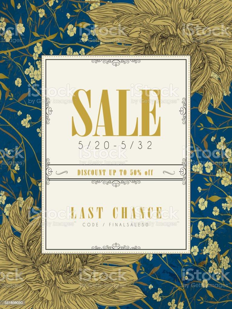 elegant sale poster template design vector art illustration
