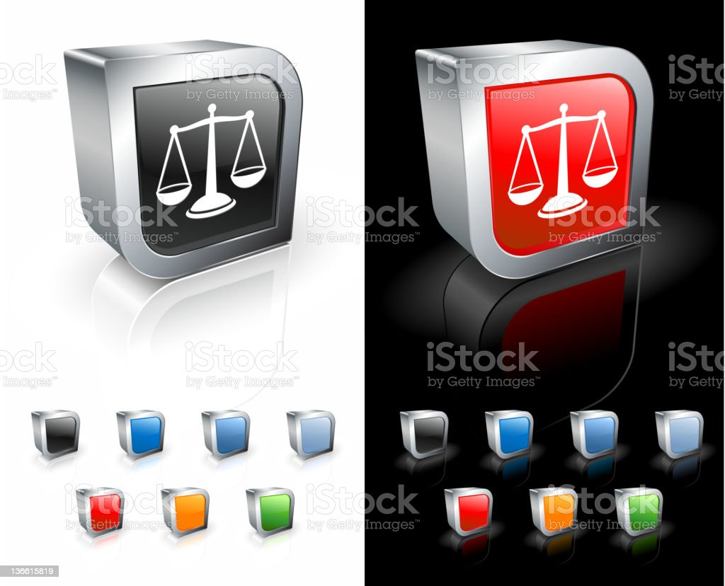 elegant scales of justice 3D royalty free vector art royalty-free stock vector art