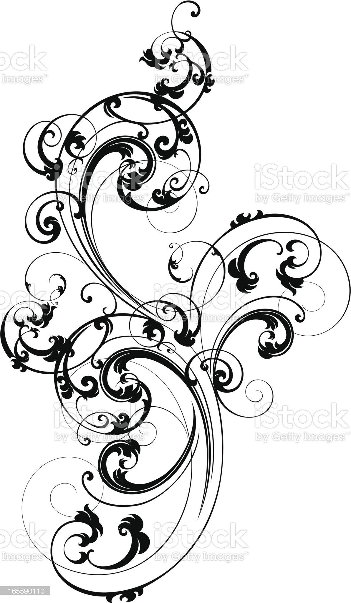 Elegant Scroll Design royalty-free stock vector art