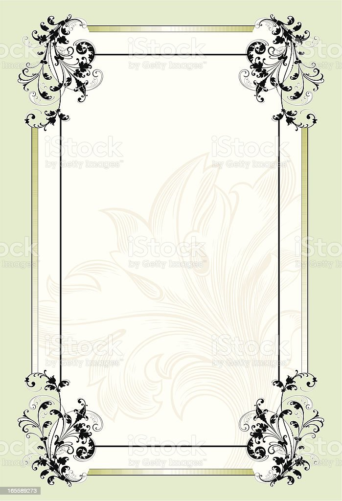 Elegant Scroll Page royalty-free stock vector art