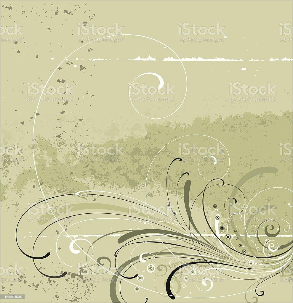 Elegant Scroll Panel royalty-free stock vector art