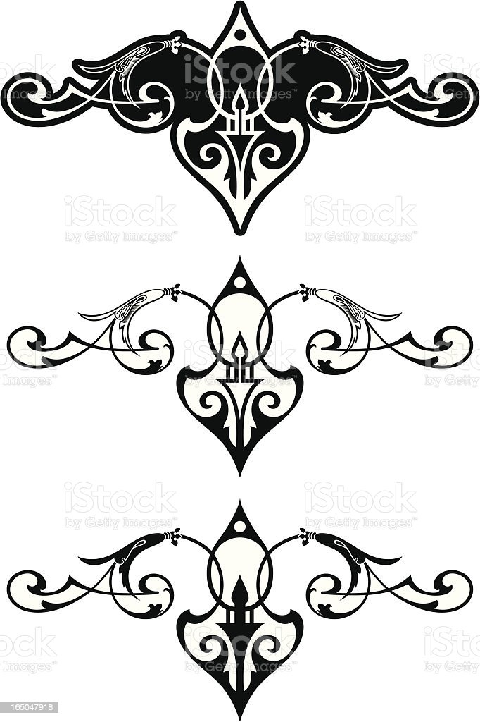 Elegant Scrolls royalty-free stock vector art