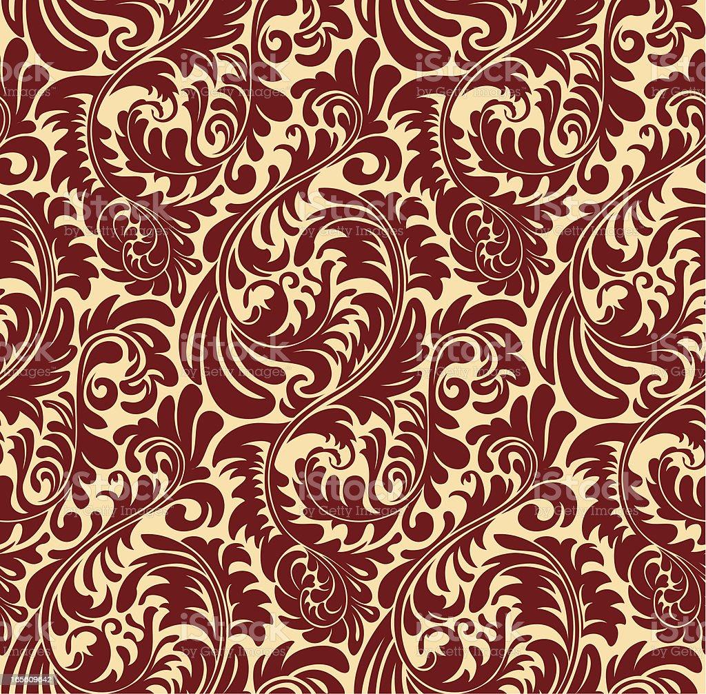 Elegant Seamless Oriental Pattern vector art illustration