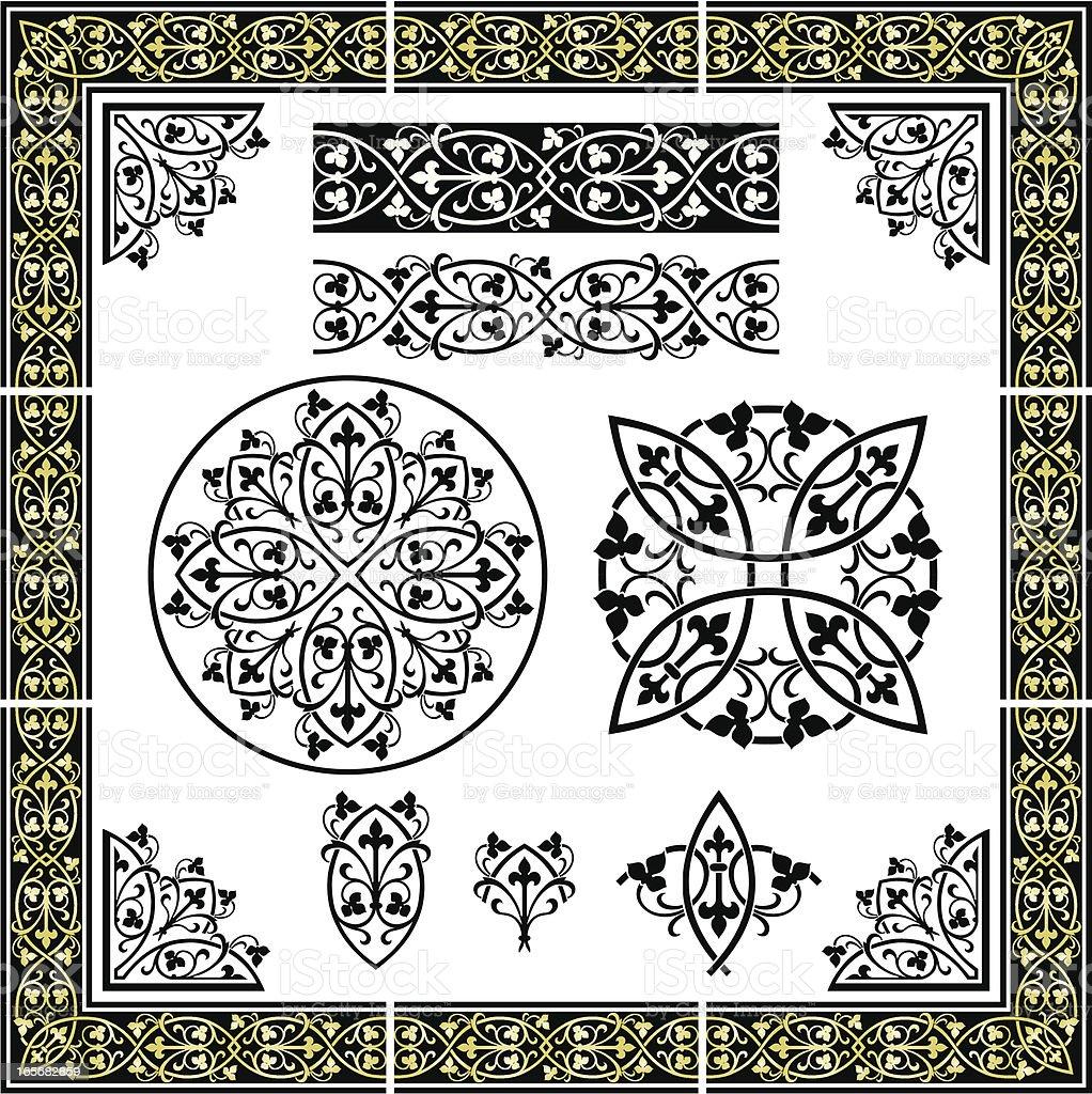 Elegant Seamless Ornament royalty-free stock vector art