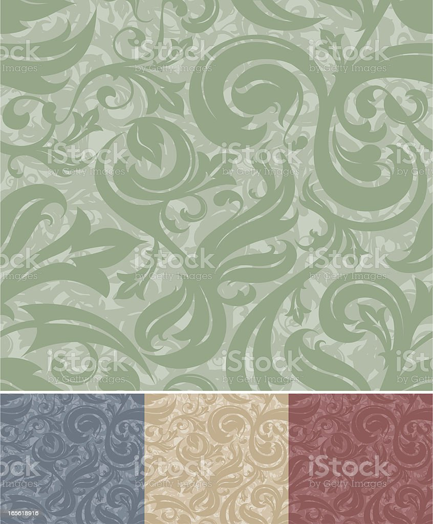 Elegant Seamless Vines Pattern royalty-free stock vector art
