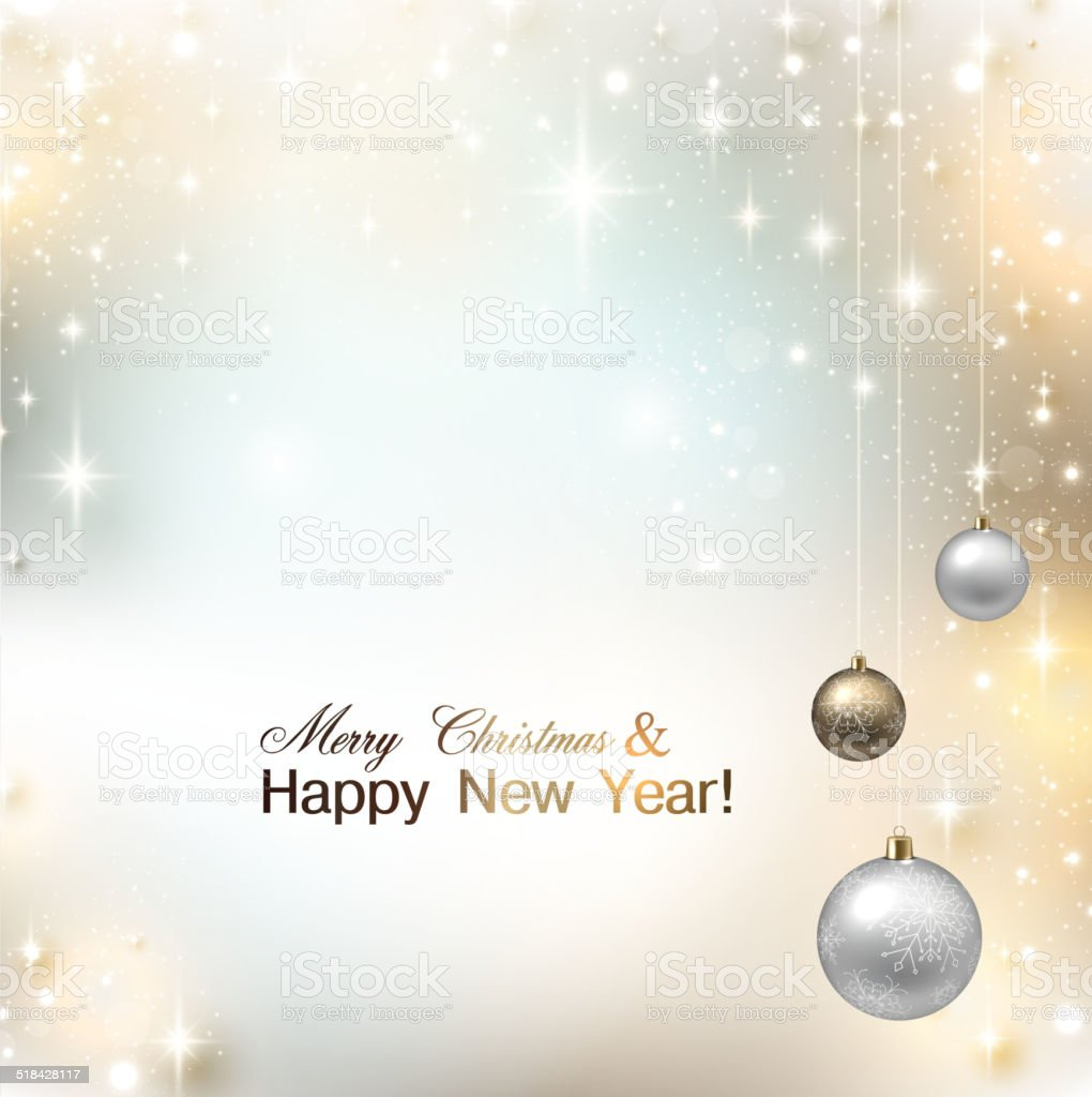 Elegant shiny Christmas background with place for text. Vector I vector art illustration