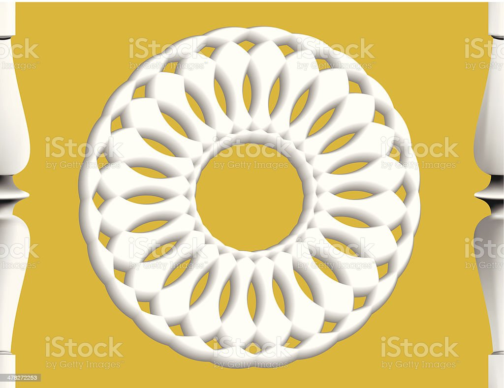 elegant simplicity of form and line decoration royalty-free stock vector art