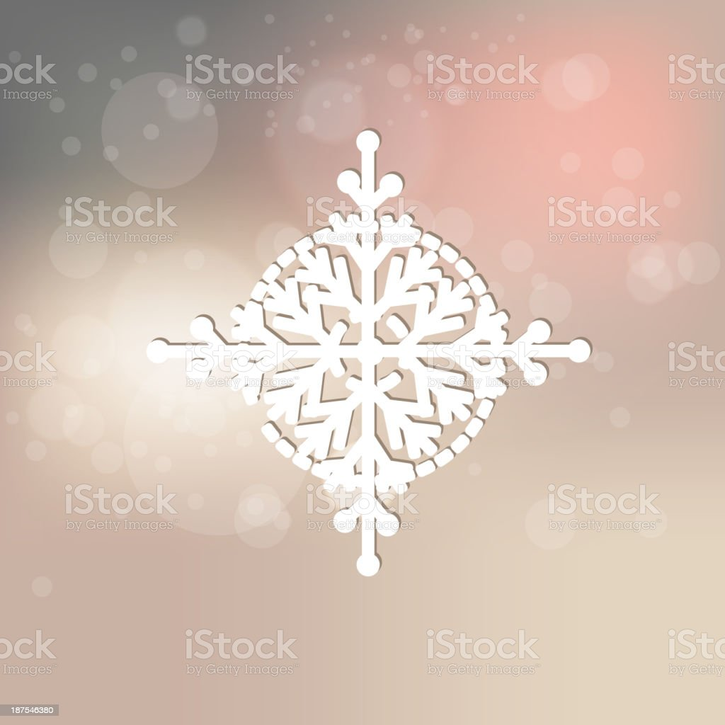 Elegant snowflake on abstract background royalty-free stock vector art