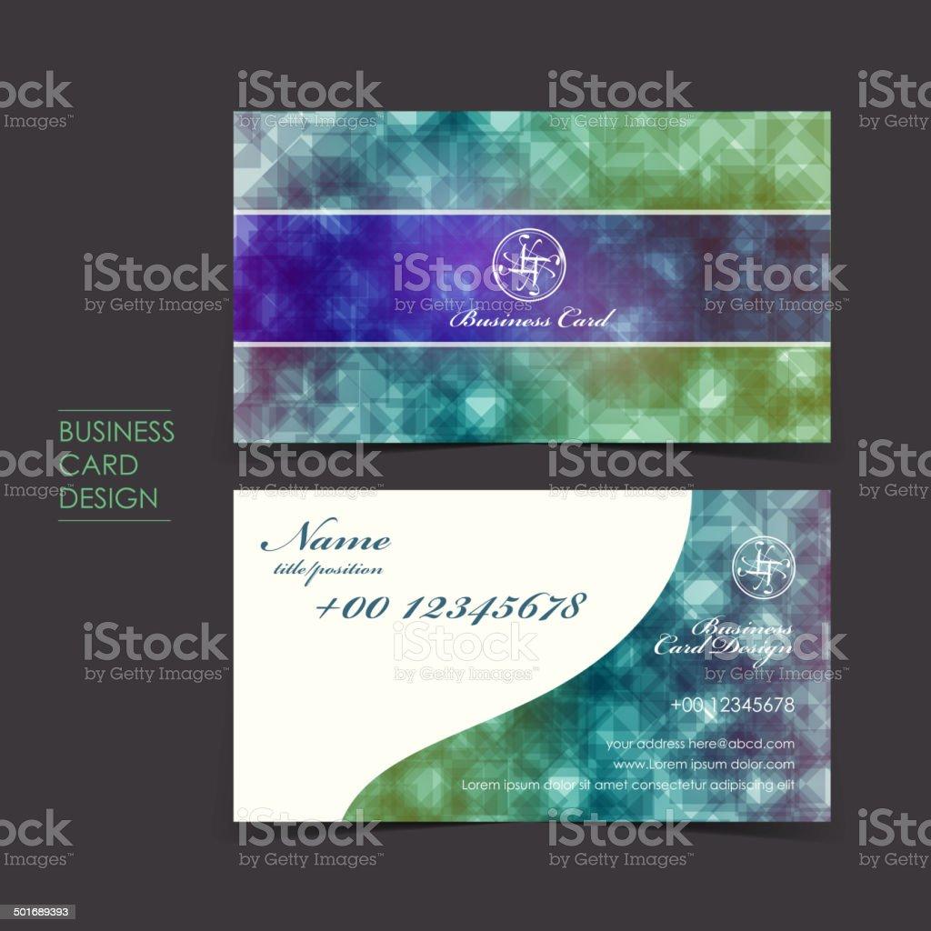 elegant sparkle vector business card set vector art illustration
