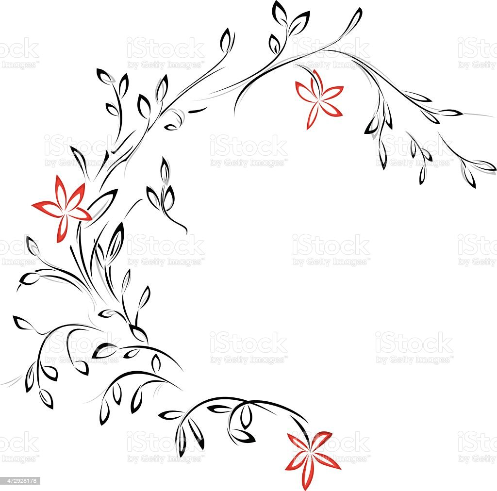 Elegant tattoo design royalty-free stock vector art