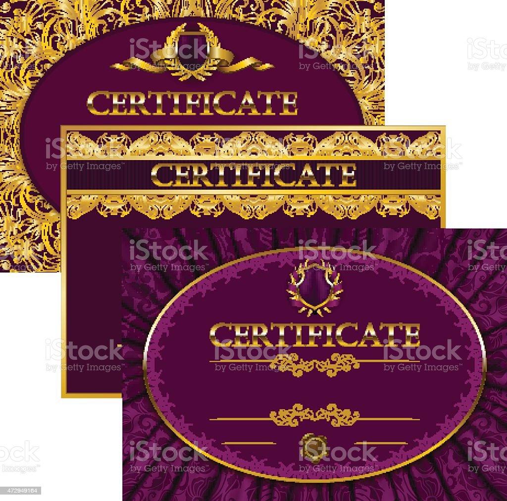 Elegant template of certificate, diploma vector art illustration