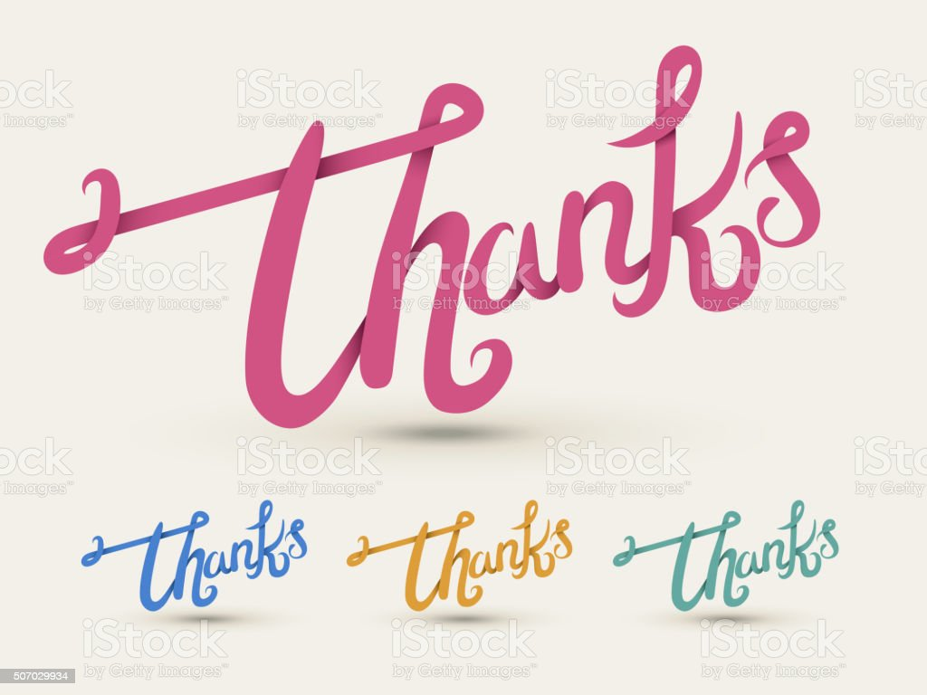 elegant thank you calligraphy design vector art illustration