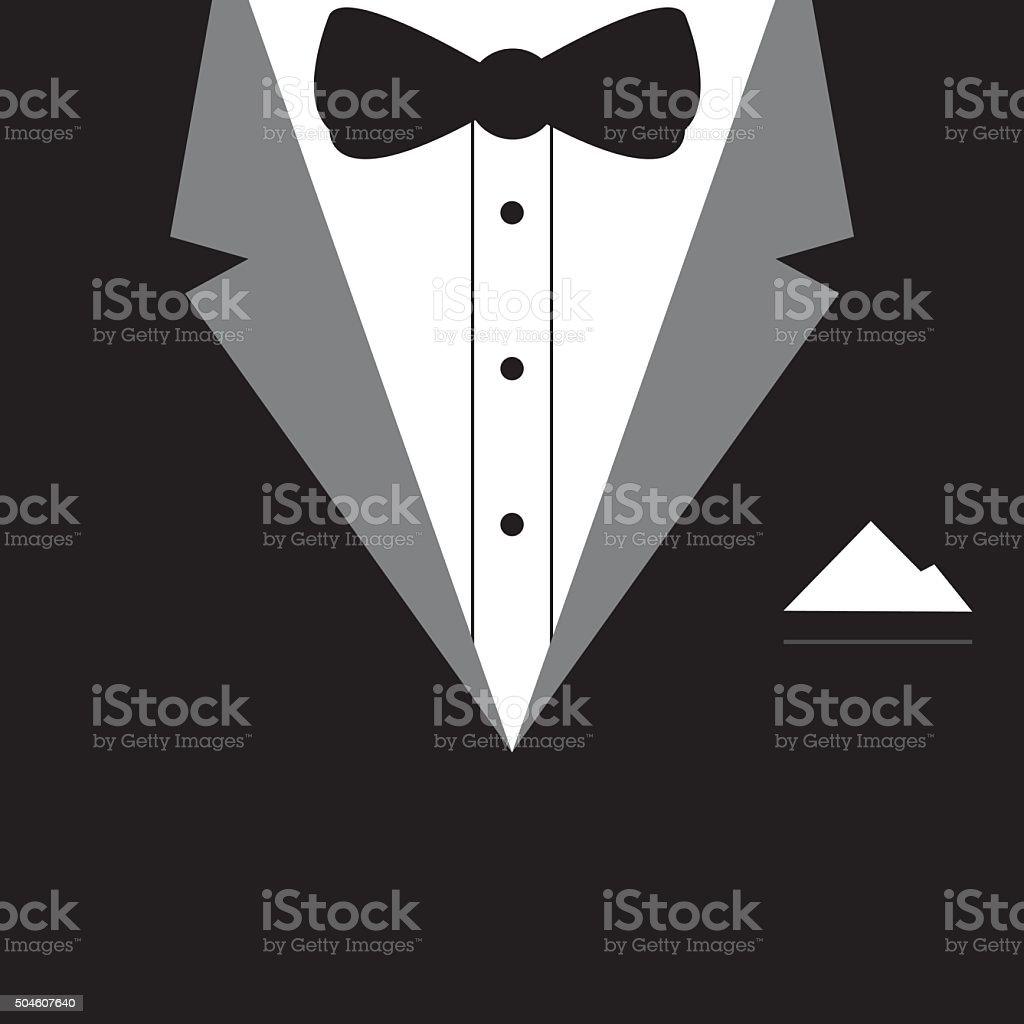 Elegant tuxedo design vector vector art illustration