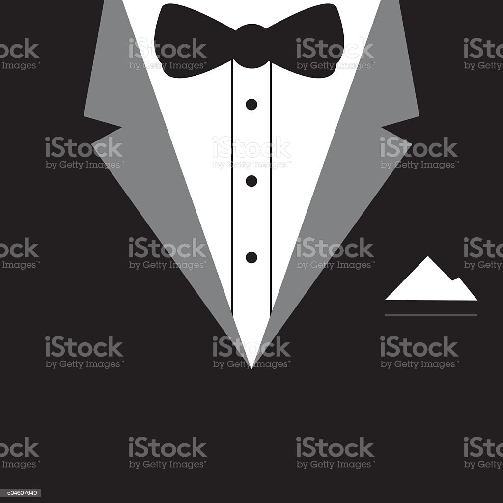 Elegant tuxedo design vector vector art illustration