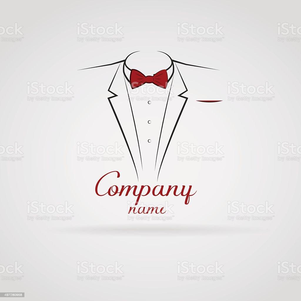 elegant tuxedo vector art illustration